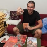 June 2012: Signing books