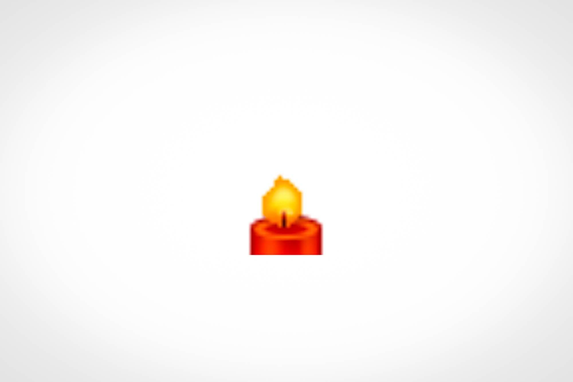 Brennende Kerze auf Weibo