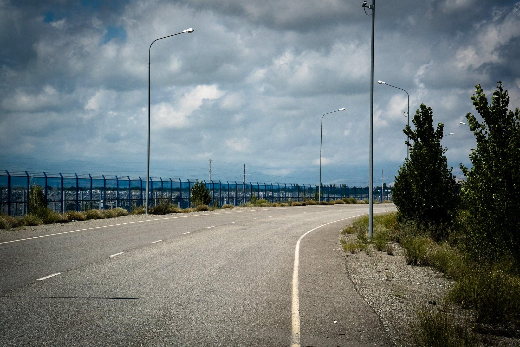 road between China and Kazakhstan
